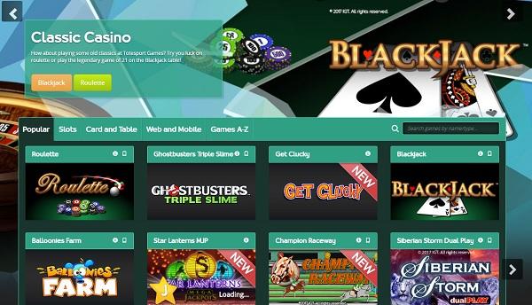 Раздел казино игр
